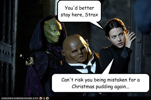 christmas special,sontaran,doctor who,pudding,stay here,mistake