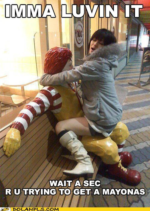 Ronald McDonald,mayonnaise,im-lovin-it,IRL,statue,McDonald's
