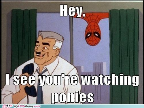 ponies Spider-Man TV caption - 6918343680