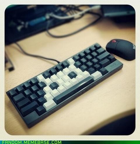 space invaders video games keyboard - 6918588416