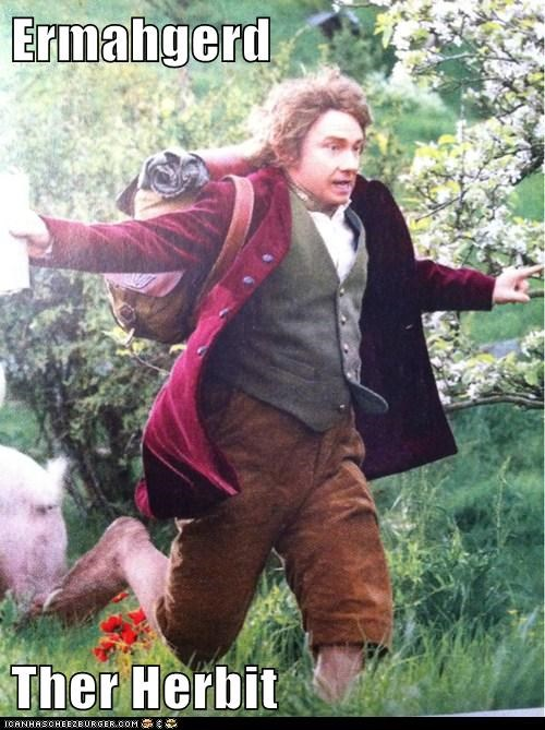 Martin Freeman Bilbo Baggins Ermahgerd The Hobbit running derp - 6918866432