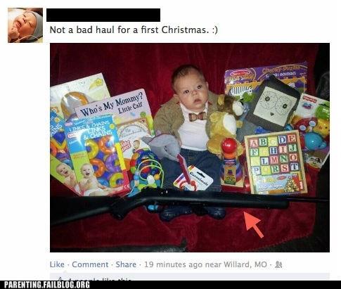 guns baby facebook