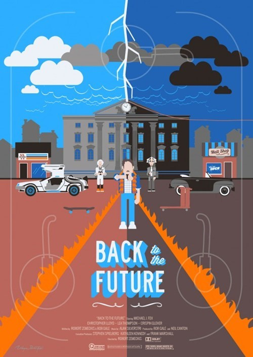 back to the future poster icons Fan Art illustration - 6919218176