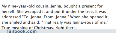 christmas,presents,christmas presents,jenna,failbook,g rated