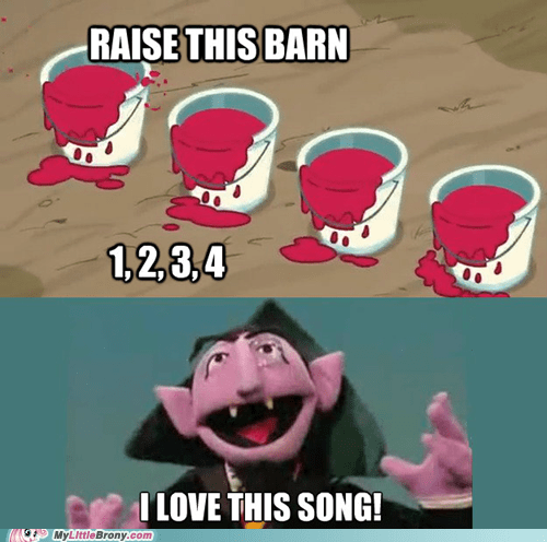 1 2 3 4,Count von Count,raise this barn,counting