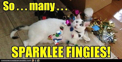 SPARKLEE FINGIES! So . . . many . . .