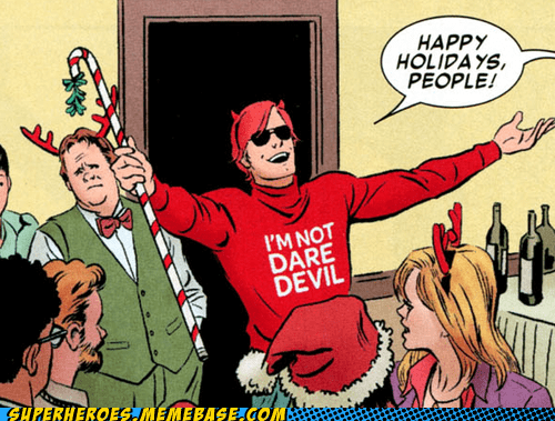 sweater diguise Party daredevil