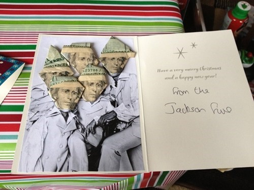 the jackson five Andrew Jackson christmas cards - 6920334848
