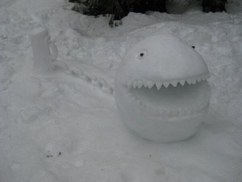 snow,IRL,december,winter,chain chomp,mario
