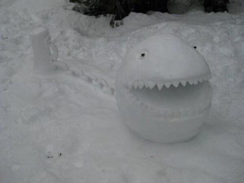 snow IRL december winter chain chomp mario - 6920475648