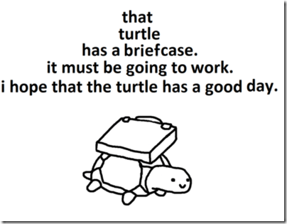 turtles,good day,briefcase,going to work