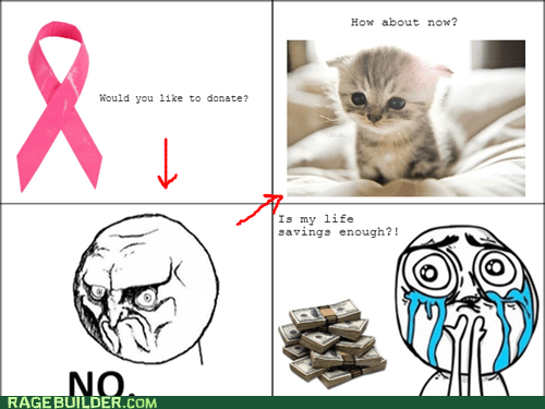 charity donation Breast Cancer cute kittens - 6920666112