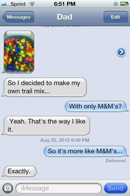 Dad Sez: Buy Some M&M's and iPhones!