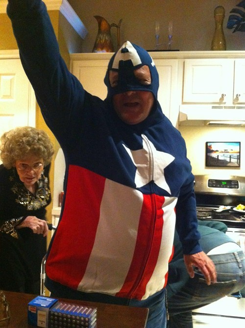 middle aged,hoodie,captain america