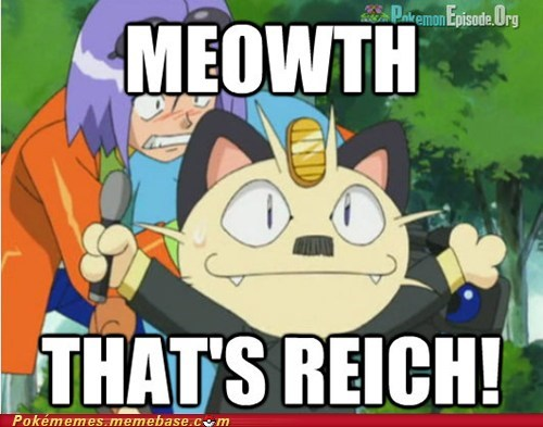 Meowth,anime,hitler