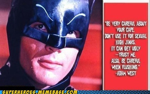 The More You Know Adam West batman
