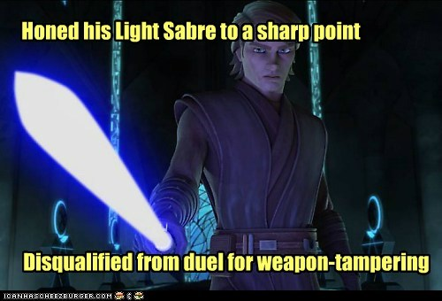 light saber,star wars,the clone wars,anakin skywalker,point,tampering