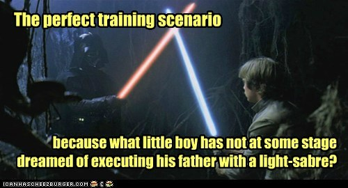 light saber star wars luke skywalker training darth vader Father Mark Hamill