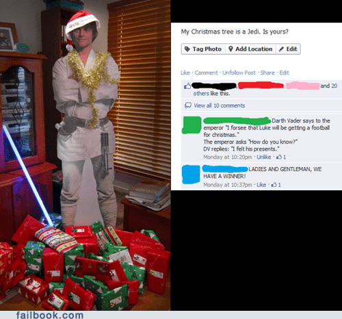 christmas star wars christmas trees luke skywalker failbook g rated - 6921442560