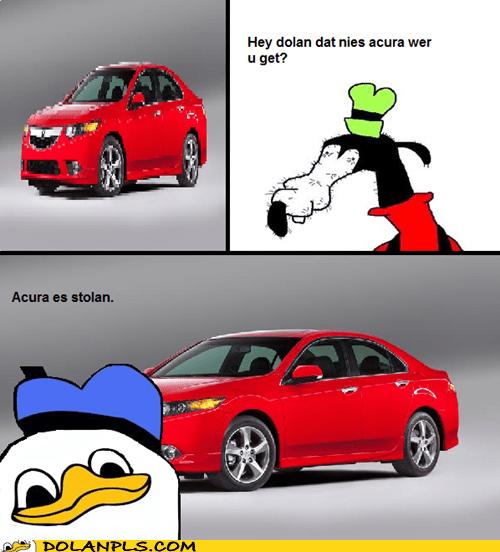 gooby stolen car honda acura