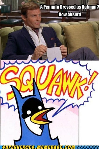 Adam West absurd strange batman penguin