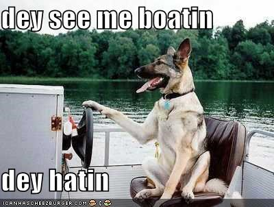 boat,german shepherd