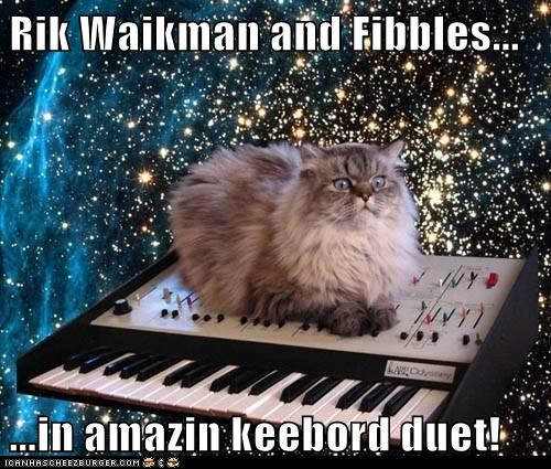 Rik Waikman and Fibbles...  ...in amazin keebord duet!