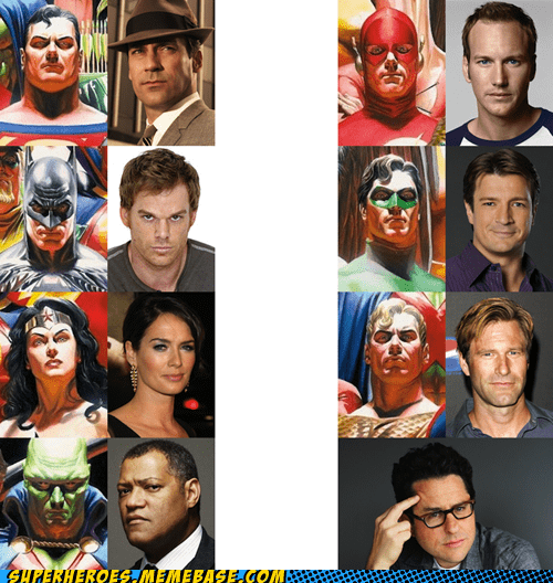 dream cast,JLA,Movie,actors