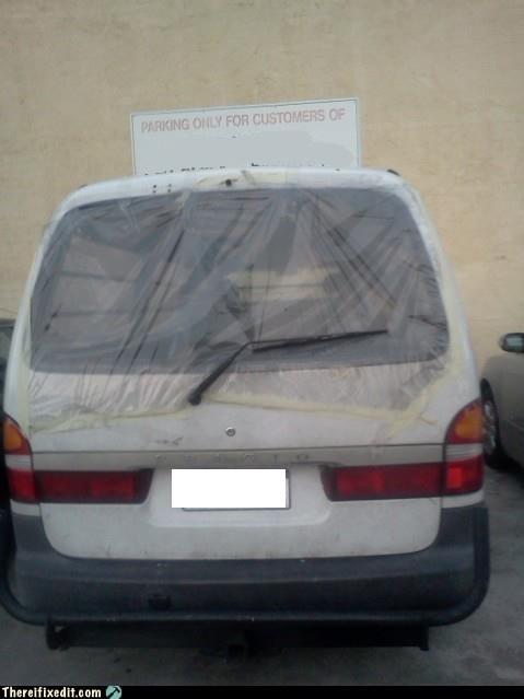 rear window minivan - 6922455040