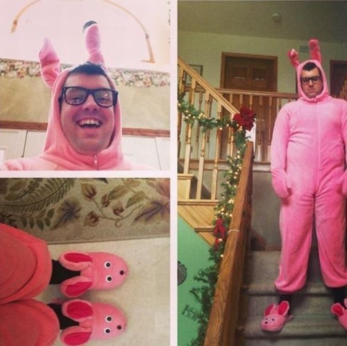 slippers,grown man,bunny costume