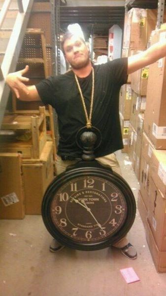 necklace Flava Flav clock