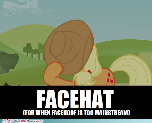 applejack facehoof facehat hiding - 6923151104
