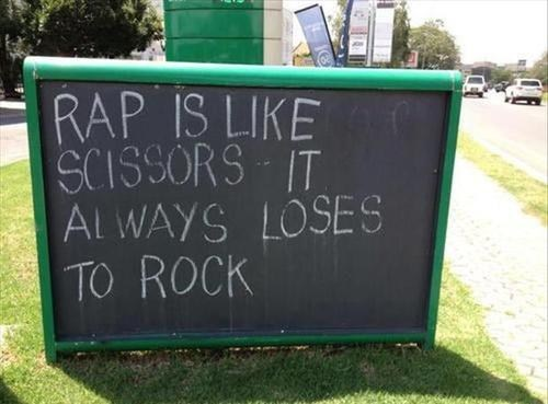 rock signs rap Music FAILS g rated - 6923188736