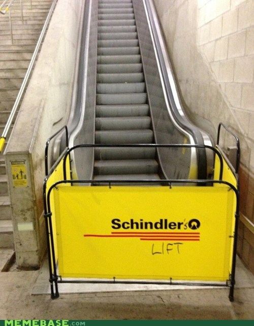 schindlers list,escalator,schindler's lift