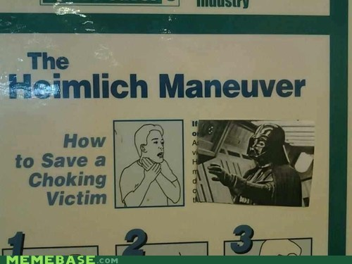 sign star wars force choke heimlich maneuver darth vader - 6923428096