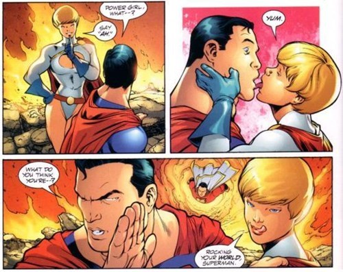 wtf off the page captain marvel power girl superman - 6923465984