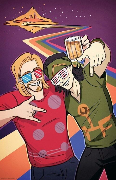 loki,Thor,art,awesome,crunk,bifrost
