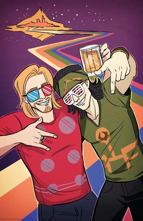 loki Thor art awesome - 6923495424