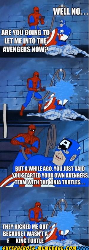 Spider-Man,TMNT,captain america,avengers
