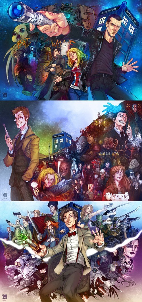 cool,David Tennant,the doctor,posters,Fan Art,Matt Smith,doctor who,christopher eccleston,fantastic,brilliant