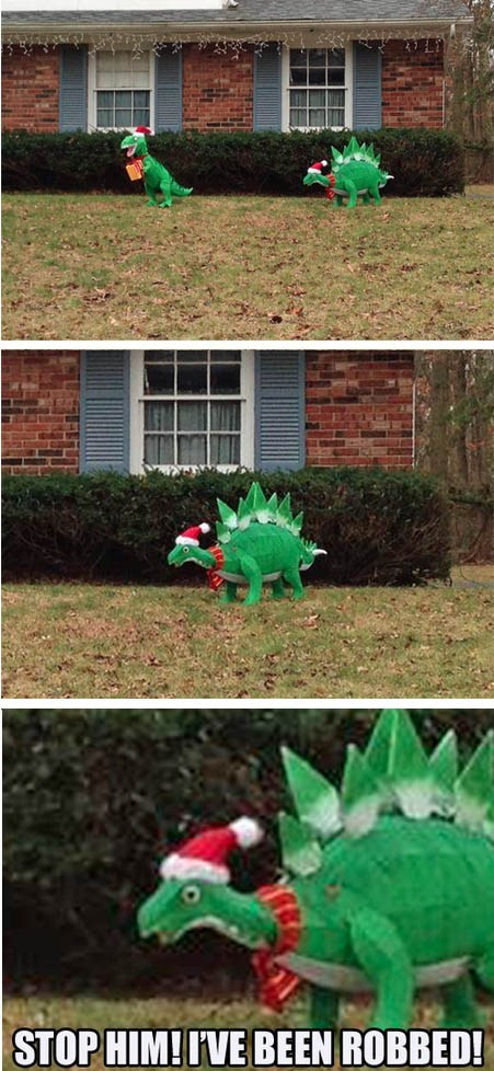 christmas decorations dinosaur funny holidays - 6923924992