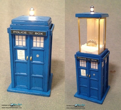box doctor tardis proposal who Ring Box engagement ring