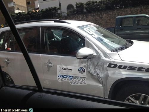silver car fix car fail duct tape - 6923978496