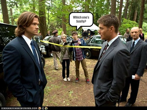 Scully,confusion,long hair,jensen ackles,Supernatural,dean winchester,the x-files,sam winchester,Jared Padalecki