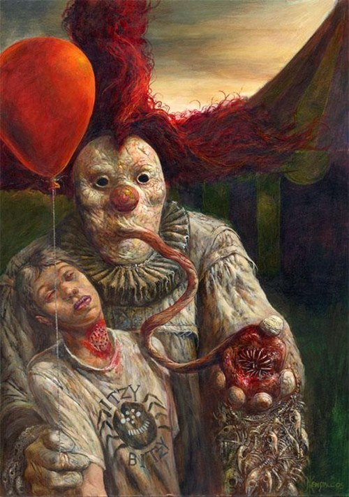 horror sucks clown creepy nightmare fuel