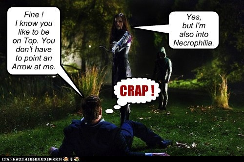 arrow necrophilia crap stephen amell - 6924666112
