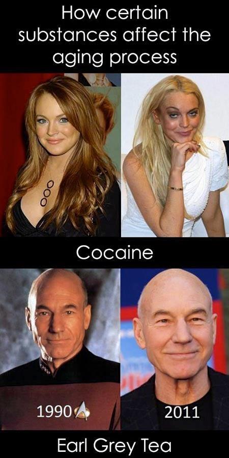 drugs,tea,aging,celeb,lindsay lohan,patrick stewart