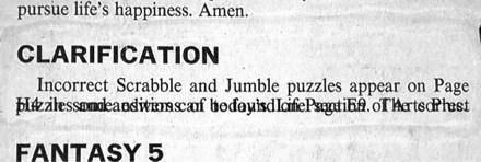error scrabble correction newspaper