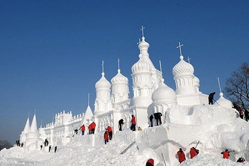 China ice winter snow sculpture destination WIN! g rated