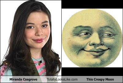 miranda cosgrove nickelodeon moon creepy TLL iCarly